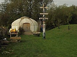 The Yurt at The Butterfly Garden. A project for people of all ages dealing with disablement of any kind.